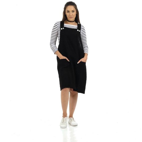 916d9f7ee0 Linen Pinafore Dress Dungaree Dress Apron Dress Linen