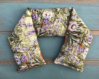 Neck Wrap, Rosemary & Lavender or Eucalyptus and Peppermint Flax Neck Warmer, Herbal Wrap, Spa Wrap, Hot Pack, Cold Pack, Spa Kit, Massage