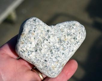 Heart-shaped rock from Atlantic coast