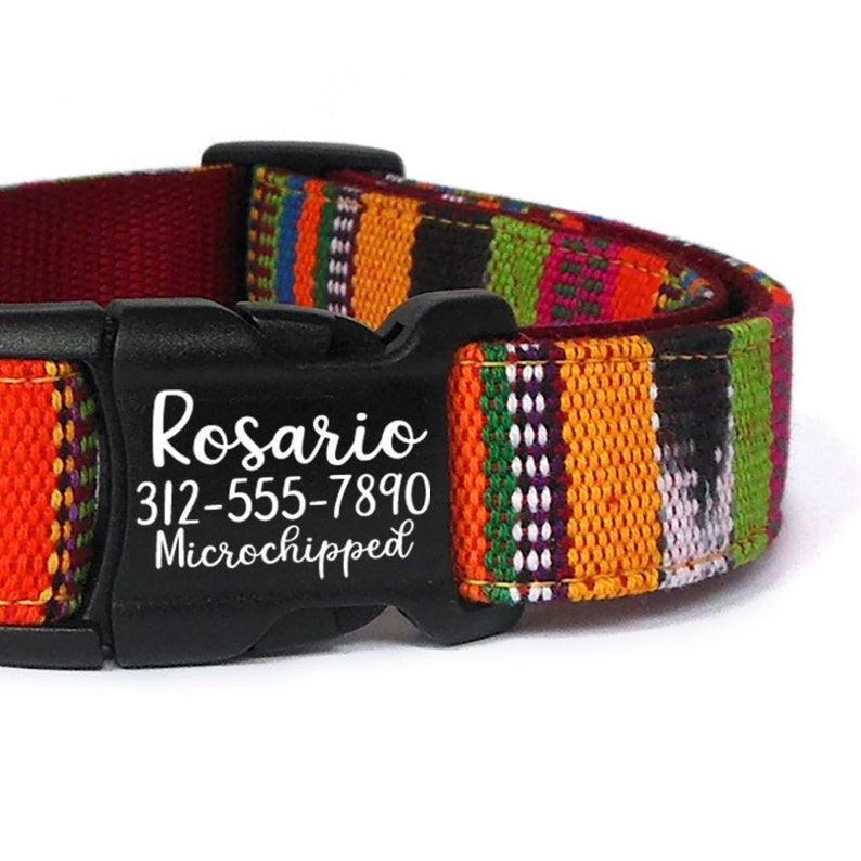 623593314035 Personalized Boho Dog Collar with Laser Engraved Buckle   Etsy