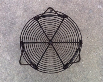 """Camping Spiral Folding 11 3/4"""" Dia Grill Grate Trivet With Folding Legs Made In A Rugged Industrial Design"""