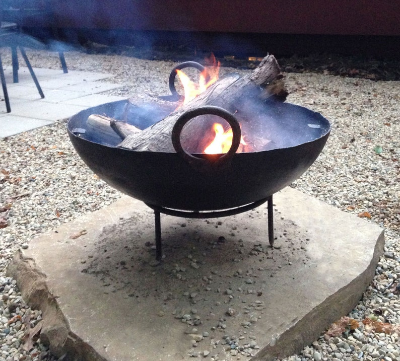 Fire Pit Stamped Recycled Steel 23.5