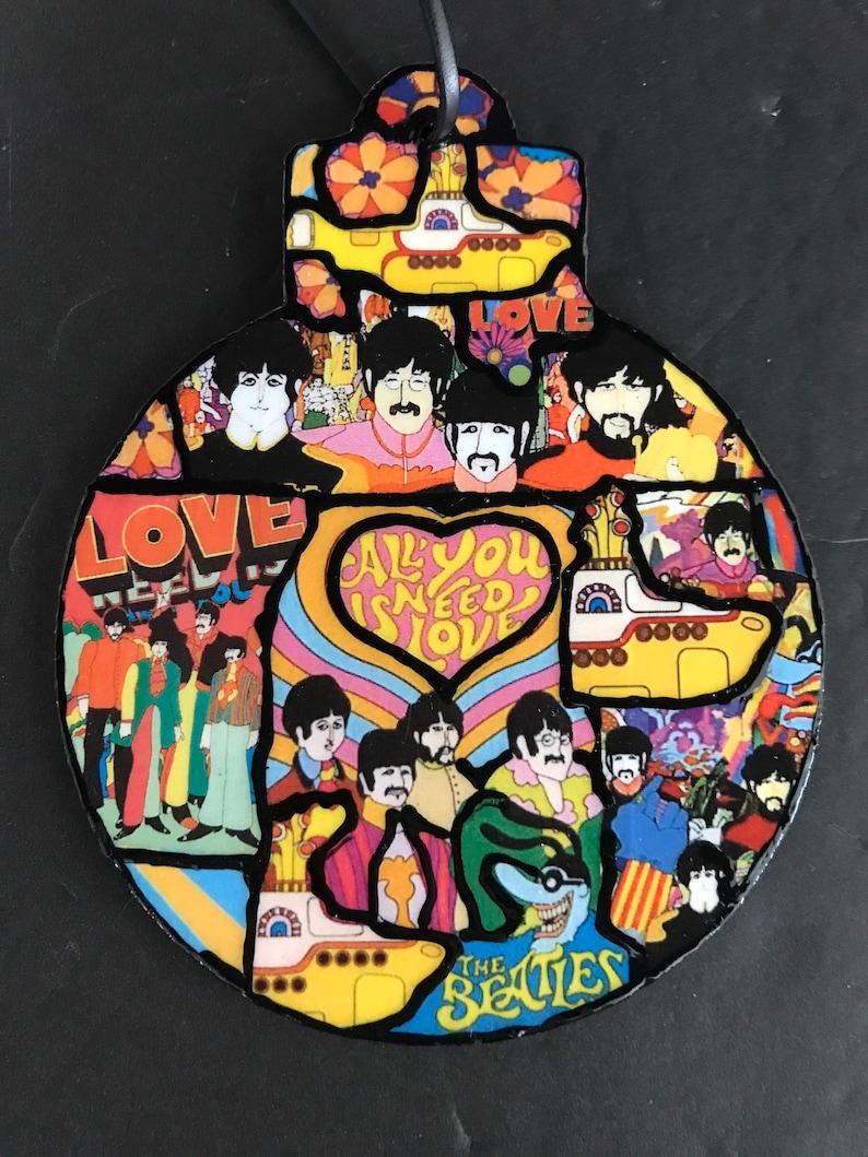 The Beatles\u2019Yellow Submarine OrnamentAll You Need Is LovePeter MaxBeatles GiftFab FourJohn Lennon