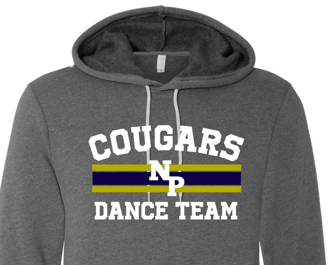 New Prairie Dance Team Unisex Hooded Sweatshirt in Grey or Navy, Youth or Adult