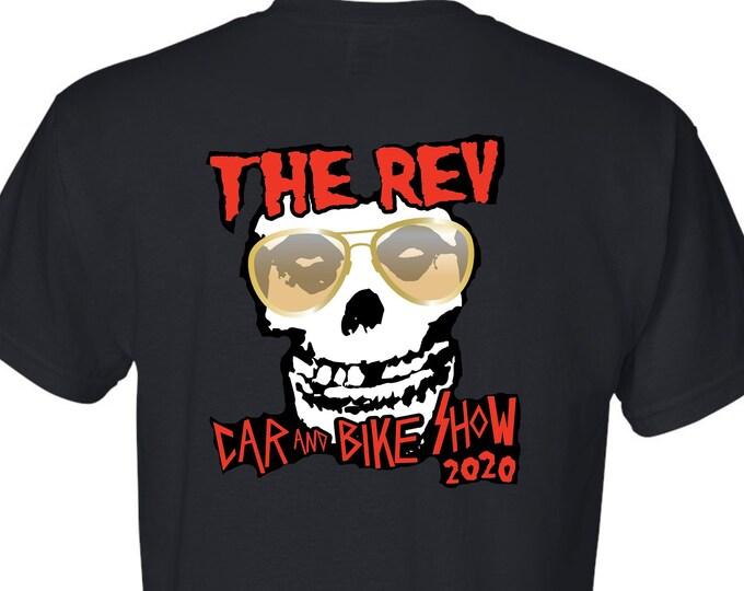 The Rev Car and Bike Show 2020 Event T-Shirt Noah Serynek Memorial Benefit
