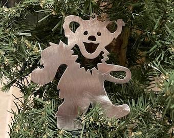 Dancing Bear Cut Steel Christmas Ornament Grateful Dead and Company