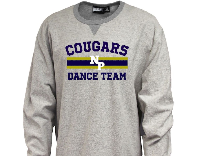 New Prairie Dance Team Pennant Sportswear Inside Out Crew Neck Sweatshirt Unisex