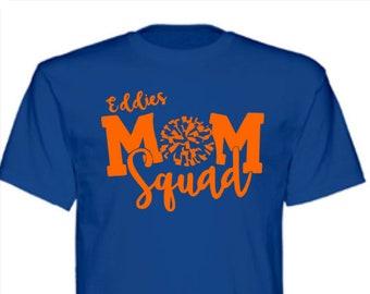 Edwardsburg Eddies High School Cheer Mom Squad T-Shirt or team of your choice