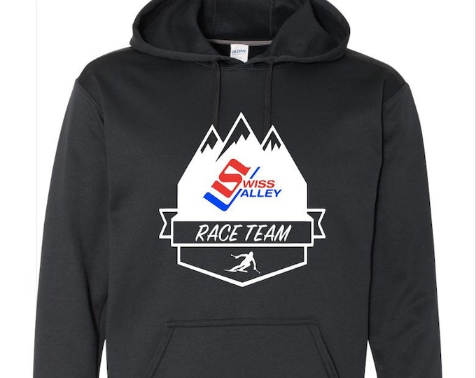 Swiss Valley Ski Race Team Hooded Performance Sweatshirt Spirit Wear