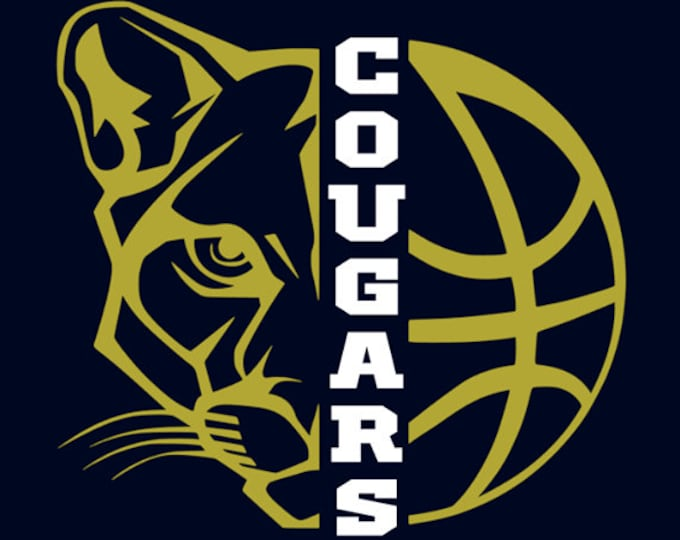 "New Prairie Cougars Girls Basketball ""Design A"" Spirit Wear T-Shirts and Sweatshirts"