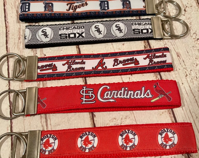 MLB Key Fob Wristlet White Sox, Atlanta Braves, Red Sox, New York Yankees, Detroit Tigers
