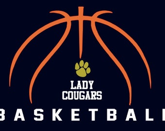 "New Prairie Cougars Girls Basketball ""Design C"" Spirit Wear T-Shirts and Sweatshirts"