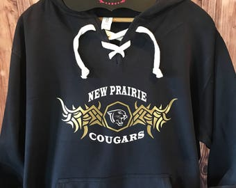 New Prairie Cougars Hooded Sweatshirt Spirit Wear