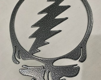 "Plasma Cut Steel Steal Your Face ""Stealie"" Decor Grateful Dead Metal Decor Art"