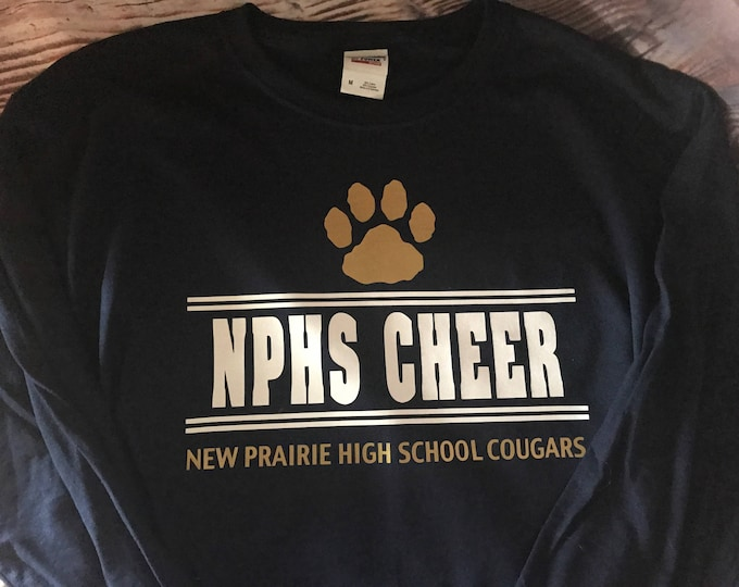 New Prairie Cougars - High School Cheer Long Sleeve T-Shirt