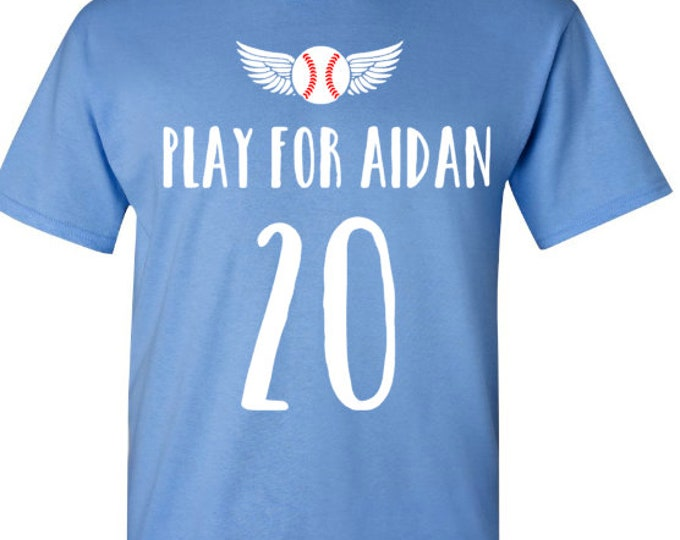 Play for Aidan Short Baseball T-Shirt In Memory Of