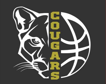 "New Prairie Cougars Girls Basketball ""Design A"" in Grey Spirit Wear T-Shirts and Sweatshirts"