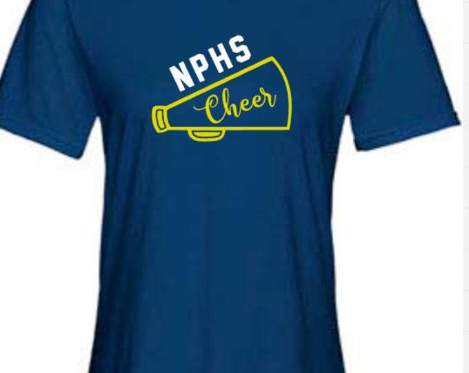 NP Cheer Short Sleeve Navy T-Shirt