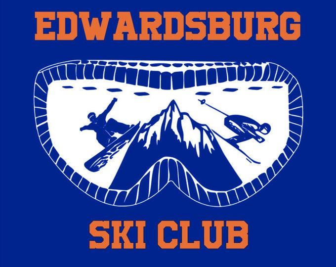 Edwardsburg Eddies Ski Club Hooded Performance Sweatshirt Spirit Wear