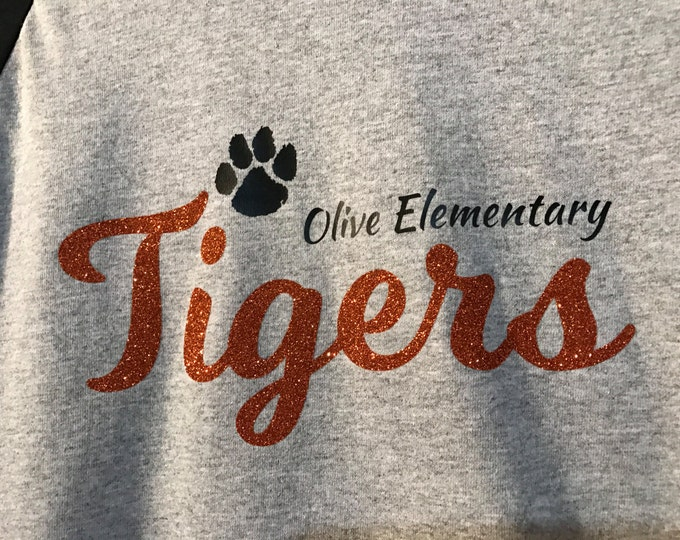 Olive Elementary School Spirit Wear Raglan T-Shirt