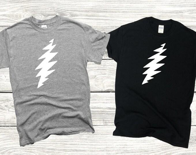 Dead and Company Grateful Dead 13 Point Lightning Bolt Short Sleeve Adult Unisex T-Shirt
