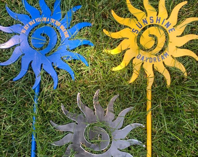 Plasma Cut Steel Sun Garden Decor Grateful Dead Lyrics Metal