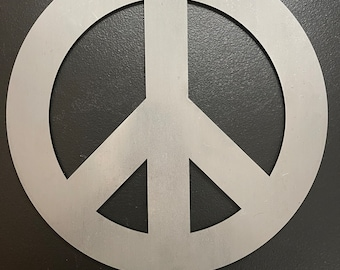 Peace Sign Cut Steel Yard Art Garden Decoration Soulrocker Stay Human