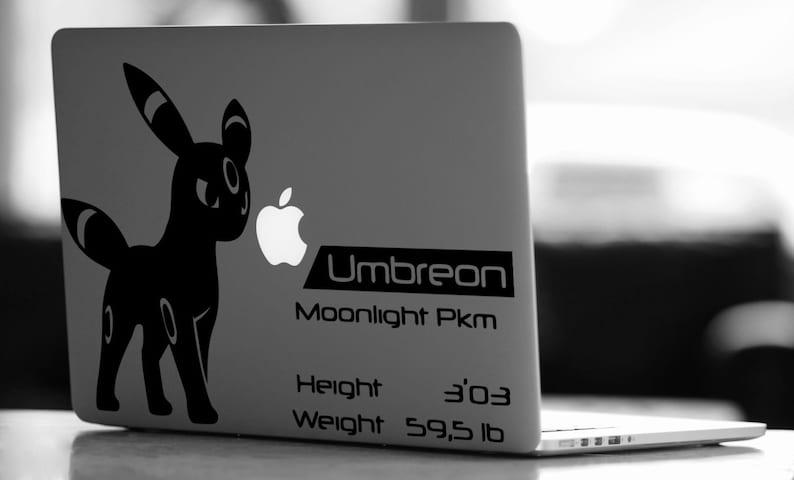 Umbreon Pokemon vinyl decal