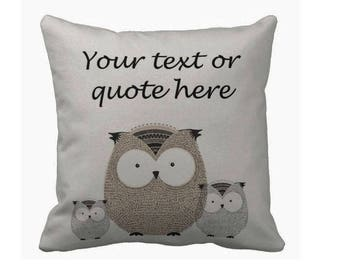 Book Lovers Pillow, Pillow Personalized, Quote Pillow, Book Lover, Writer Gift, Couch Pillow,  Art Book, Owl Pillow, Owl quote Pillow