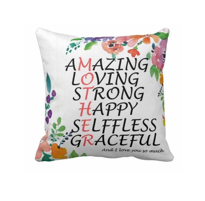 size 45x45 cm Thanks mum Mother Pillow Mother/'s day gift Pillow Mum birthday gift Mother decor Mother of the bride gift