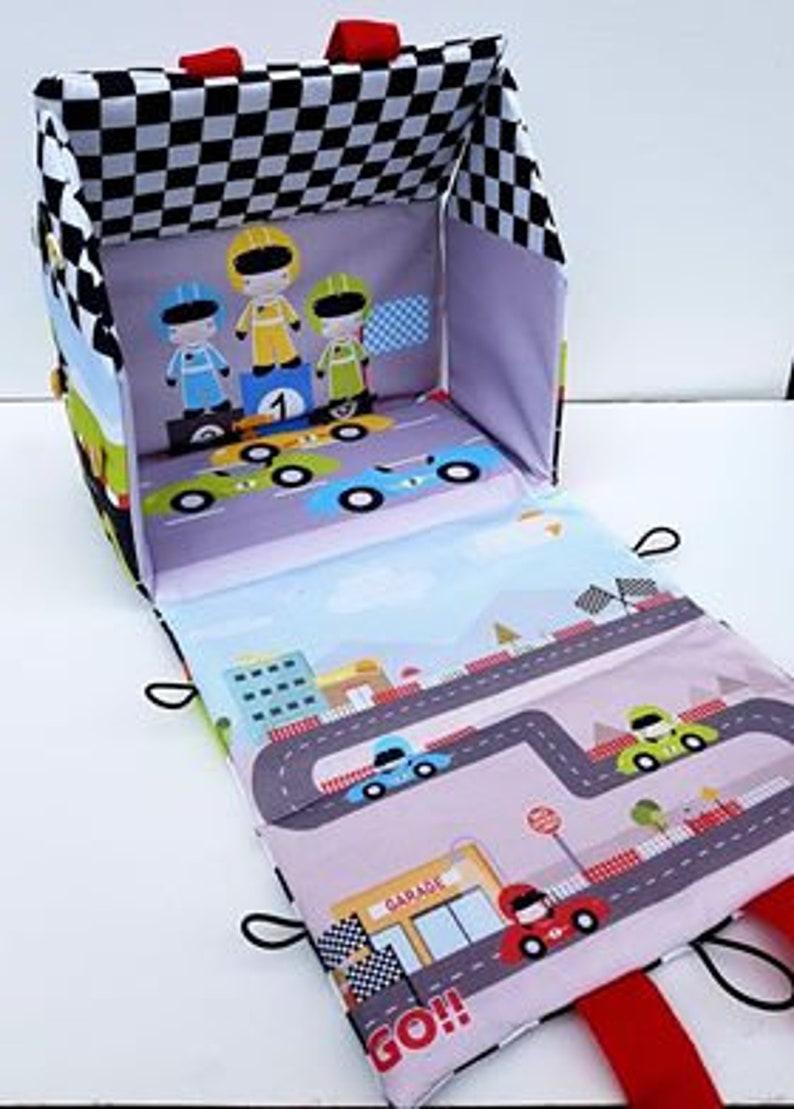 14a562a6c6 Racing Car Garage bag fabric doll house Racing Car toy