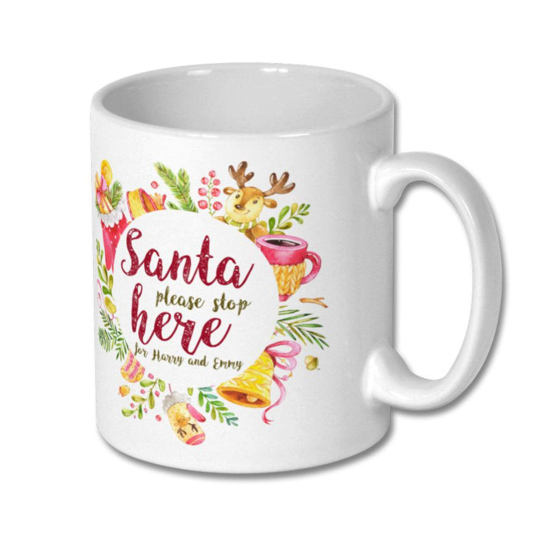personalized christmas mug gift mugs personalize with any. Black Bedroom Furniture Sets. Home Design Ideas