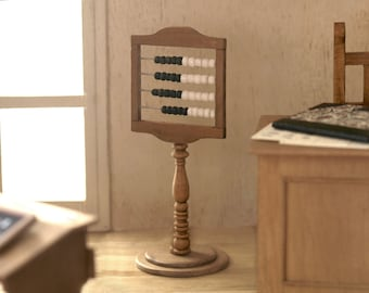 Abacus with pedestal scale 1:12. Making handmade.