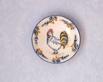 Miniature ceramic plate scale 1:12. Making handmade and painted by hand. The price inclued only the dish.