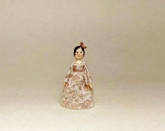 Mini Doll Peg 1:12 scale. 23 mm high approximate.