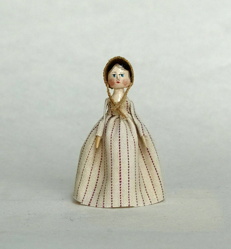 Reserved by Holly.Mini Doll Peg 1:12 scale. 26-28 mm high image 0