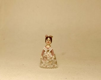 Reserved by Geraldine. Mini Doll Peg 1:12 scale. 18 mm high