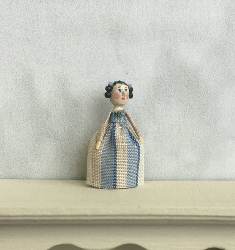 Mini Doll Peg 1:12 scale. 20 mm high approximate image 0