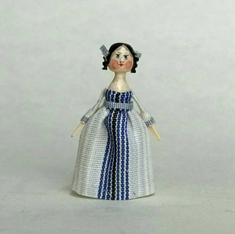 Mini Doll Peg 1:12 scale. 26-28 mm high approximate. image 0