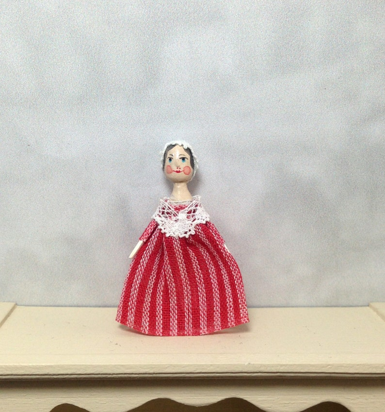 Mini Doll Peg 1:12 scale. 30 mm high approximate. image 0