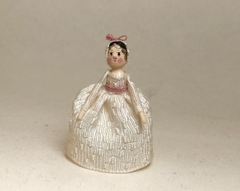 Mini Doll Peg 1:12 scale. 24 mm high approximate.