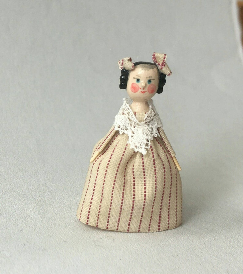 Mini Doll Peg 1:12 scale. 32-35 mm high approximate. image 0