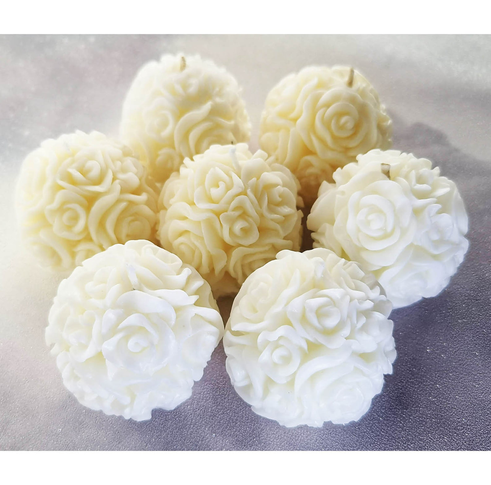 25 Wedding favour candles