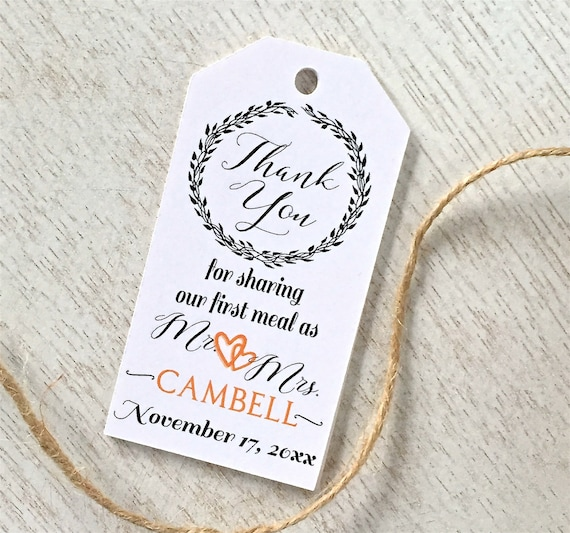 wedding thank you tags wedding tags favor tags napkin tie etsy