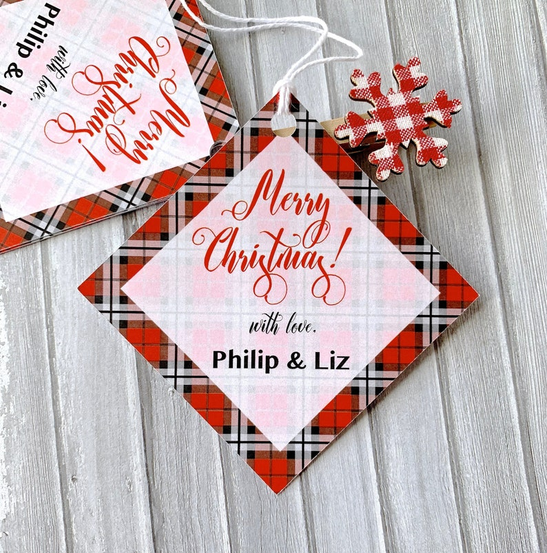 Christmas In July Gift Tags.Christmas Gift Tags Labels For Presents Personalized Tags Plaid Labels Gift Wrapping Merry Christmas Christmas In July 12 Tags