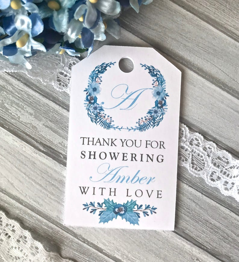 9a5e8969368e Bridal shower tags baby shower tags winter bridal shower