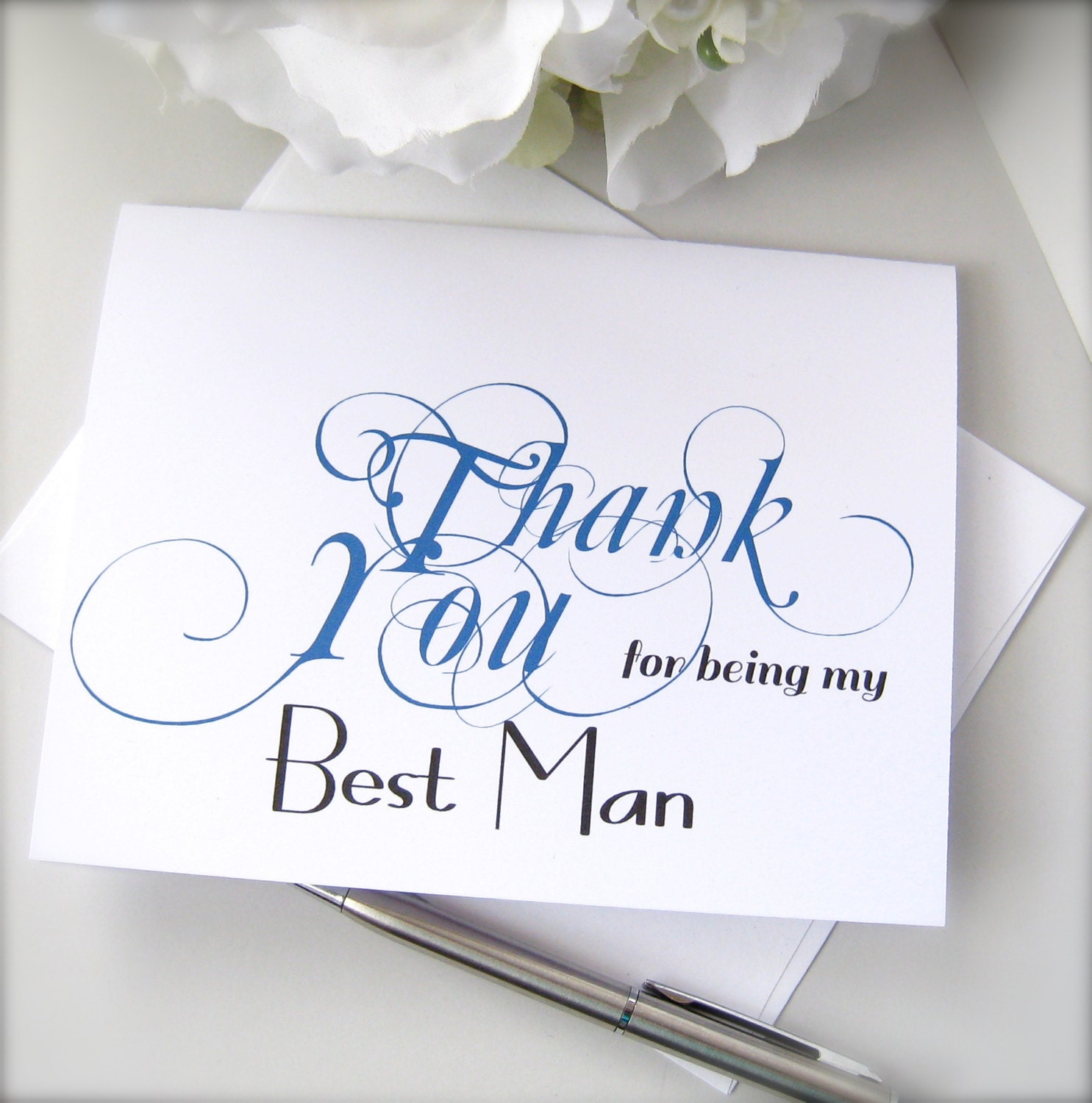 groomsman thank you card best man thank you groom's  etsy
