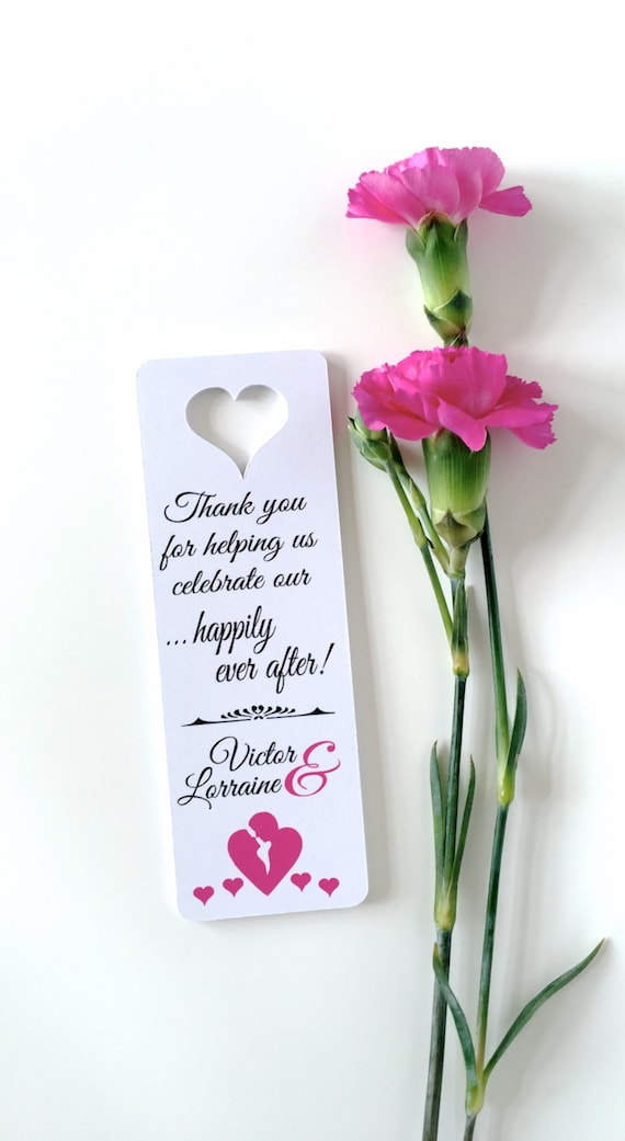 Small Bookmarks Favors Thank You Bookmark Wedding Favors