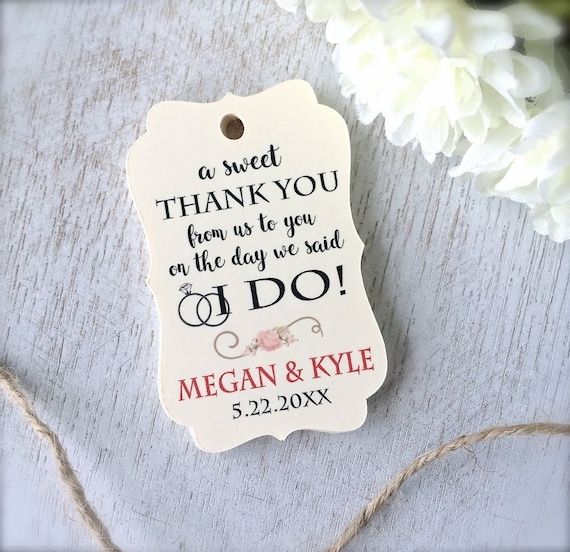 Gift Tags For Wedding Favors: Sweets Favor Tags Wedding Favor Tags Custom Thank You Tags