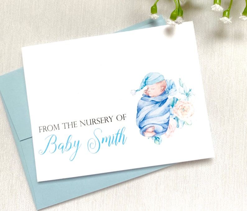 Baby Boy Thank You Cards Baby Shower Card Baby Shower Gift Etsy